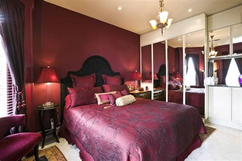 master bedrooms  rich red hues interiors  color