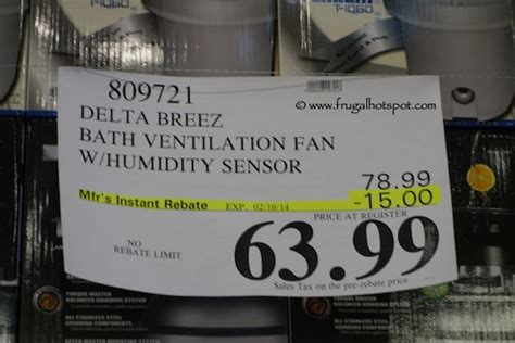 costco bathroom fan costco sale delta breez bath ventilation system fan frugal hotspot