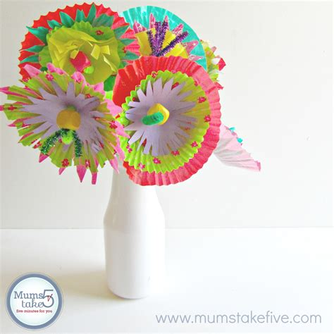 Paper Flower Craft For Children - paper flower craft