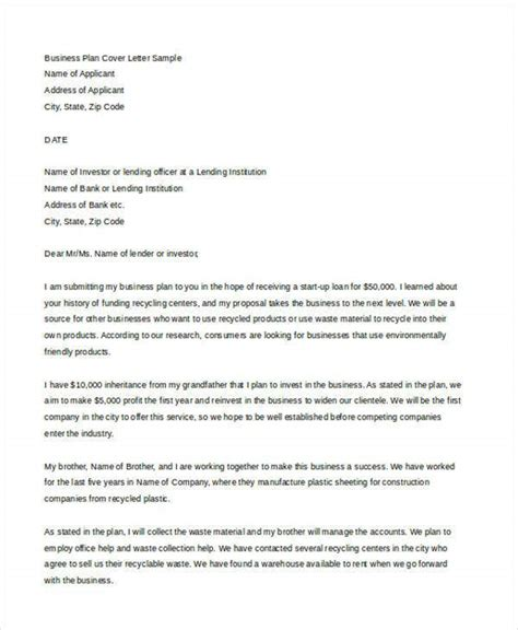 business cover letter word format