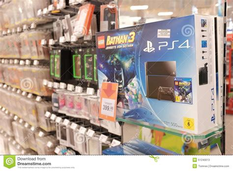 console shop ps4 console editorial stock photo image 51245613