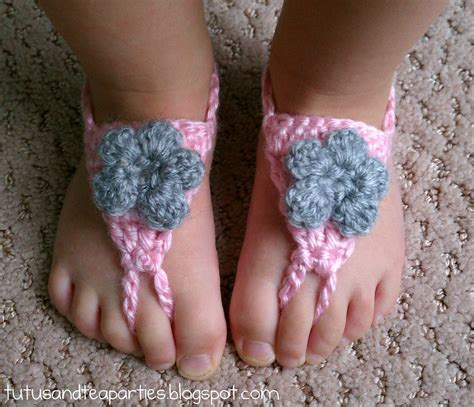 free crochet barefoot sandals tutus and tea free crochet pattern crochet