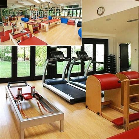 celebrity home gyms go inside 13 celebrity home gyms pilates studio and gym