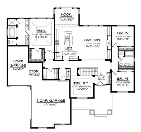 craftsman ranch floor plans fresnel craftsman ranch home plan 051d 0722 house plans and more