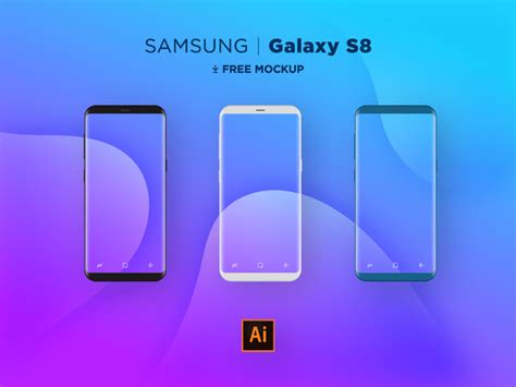 Samsung S8 Flat 20 amazing samsung galaxy s8 note 8 mockups for free 365 web resources