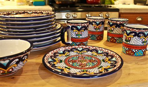Colorful Kitchen Canisters by Talavera Dinnerware Collection Dinnerware Pattern 59