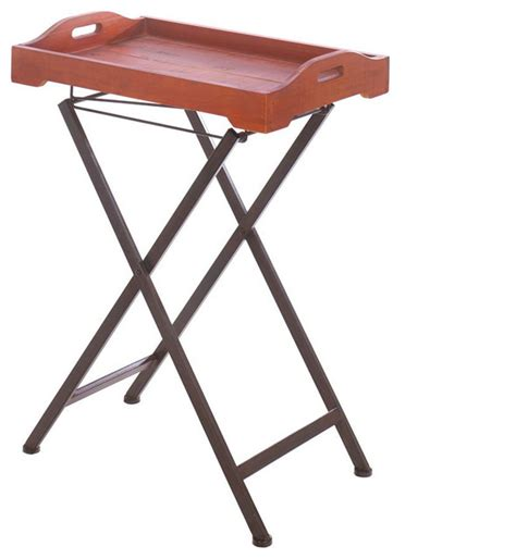 rustic tv tray tables shop houzz accent plus rustic spirit tray table tv trays