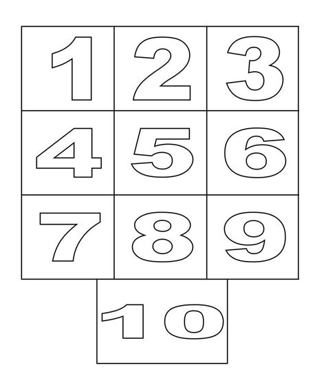 Galerry coloring pages printable numbers