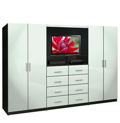 Bed Wardrobe Unit by Aventa Tv Wall Unit For Bedrooms Bedroom Wall Unit 8 Drawer 4 Door Contempo Space