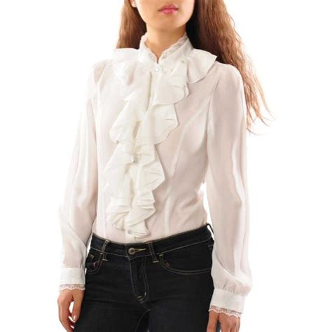 Ruffle Collar Blouse Sleeve by May S Lace Collar Ruffle Front Sleeve