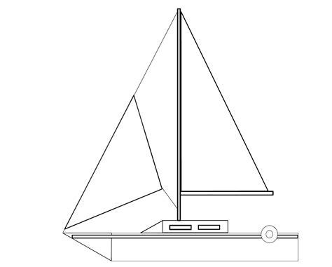 dessin bateau de course dessiner et colorier un voilier bateau