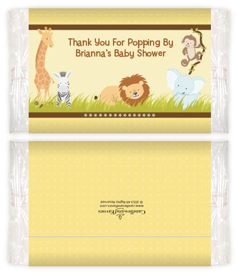 Baby Shower Popcorn Wrappers by Jungle Safari Baby Shower Popcorn Wrappers Baby