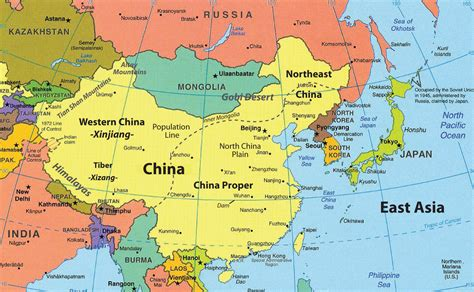 asia map china east asia