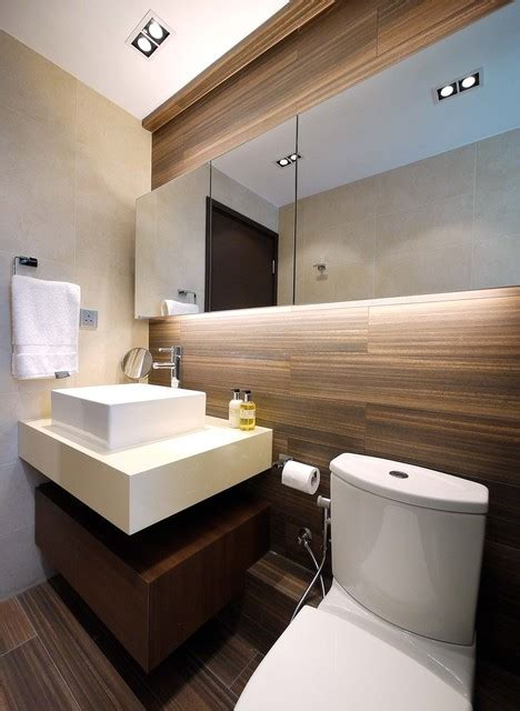 Mordern Indian Apartment Contemporary Bathroom Hong Kong by Ample DESIGN