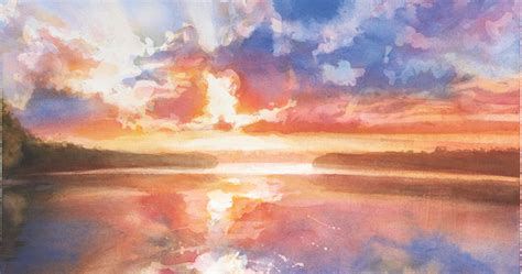 water color sunset watercolor workshop painting the colors of sunsets