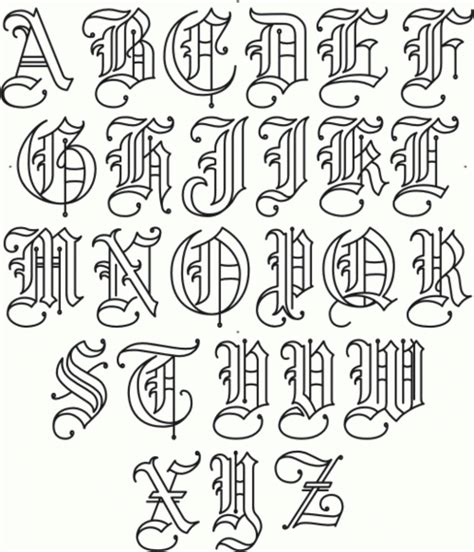 tattoo fonts a z gangsta graffiti letters gangster graffiti fonts