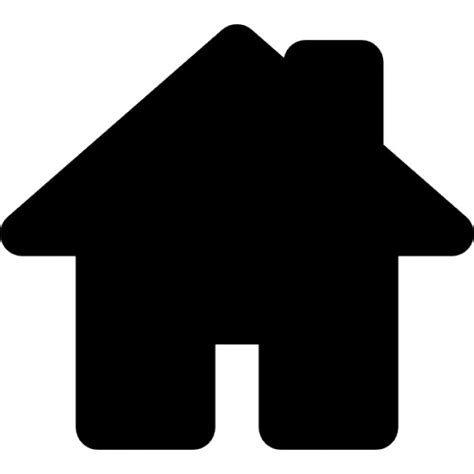 haus icon house black shape for home interface symbol icons free