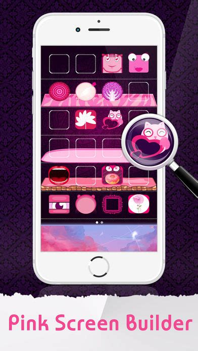 wallpaper iphone maker pink icon skins maker home screen wallpapers for iphone