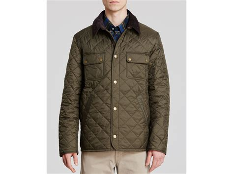 Barbour Olive Quilted Jacket by Barbour Tinford Quilted Jacket In Green For Lyst