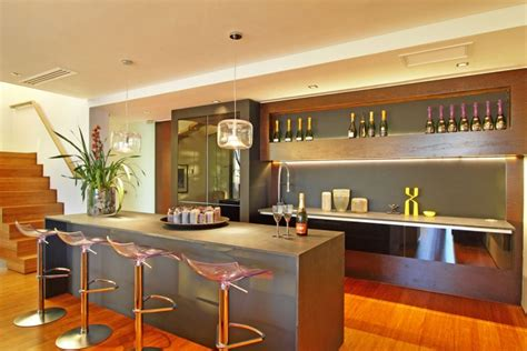open kitchen bar space interior design ideas