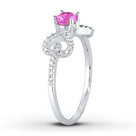 unique half carat pink sapphire and engagement