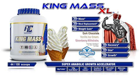 Whey Xs 5 Lb Ronnie Coleman Pengganti King Whey Dan Pro Antium king mass 6 lbs by ronnie coleman series supplement factory