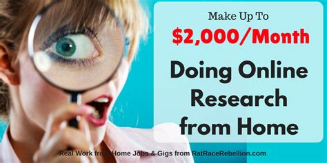 make 2 000 month doing research from home real