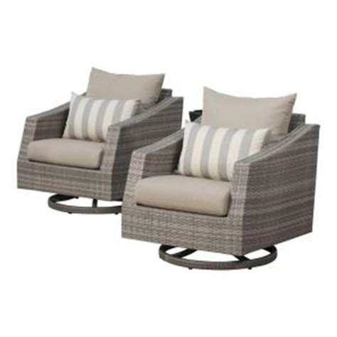grey wicker club chairs rst brands cannes all weather wicker motion patio lounge