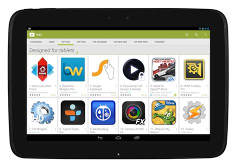 play store app free for android tablet modifies play store to help tablet users find tablet optimized apps talkandroid