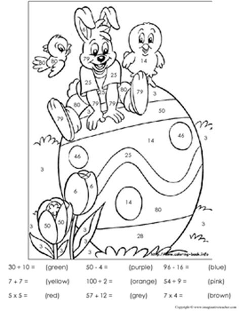 FREE Easter Color by Number by Imaginative Teacher | TpT