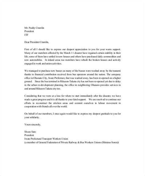 letter appreciation