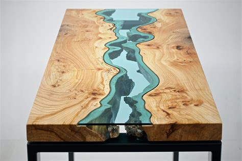 topography coffee table the river collection unique wood and glass tables by greg