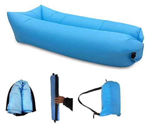 lounger comfortable and strong lazy air bed blue portable sofa durable travel