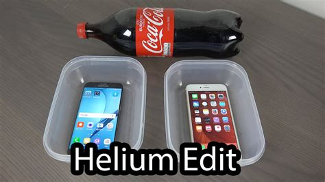 samsung galaxy s7 edge vs iphone 6s plus coca cola freeze test helium edit