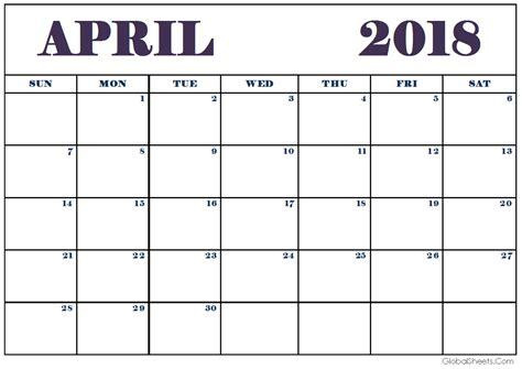 april 2018 decorative calendar printable rudycoby net