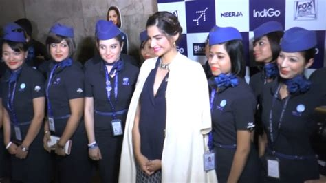 Cabin Crew Indigo by Sonam Kapoor Hosts A Special Screening Of Neerja For