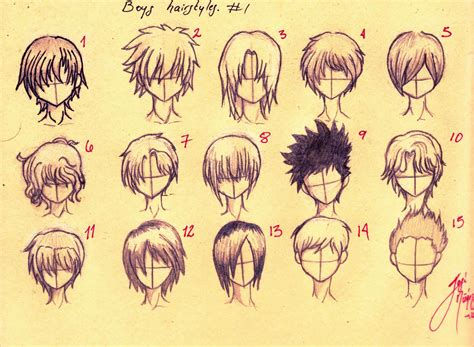 anime guy hairstyles drawing hairstyles ideas