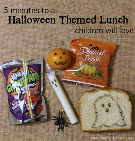 Halloween Themed Lunch | 5 minute halloween themed lunch