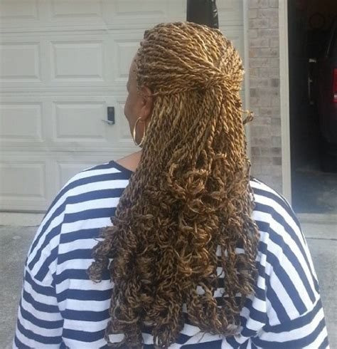 natural braids curled ends 40 chic twist hairstyles for natural hair