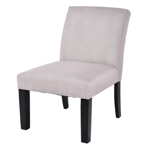 Armless Living Room Chairs by Fabric Wood Armless Slipper Dining Sofa Chair Upholstered