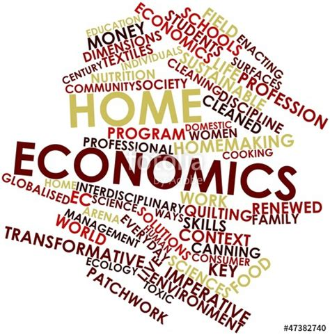 quot word cloud for home economics quot stock photo and royalty