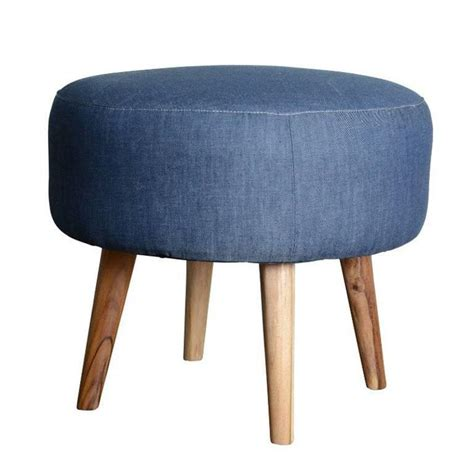 denim ottoman contemporary teak and denim ottoman for sale at 1stdibs