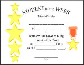 Student Of The Week Certificate Template Free certificates for teachers student of the week 2