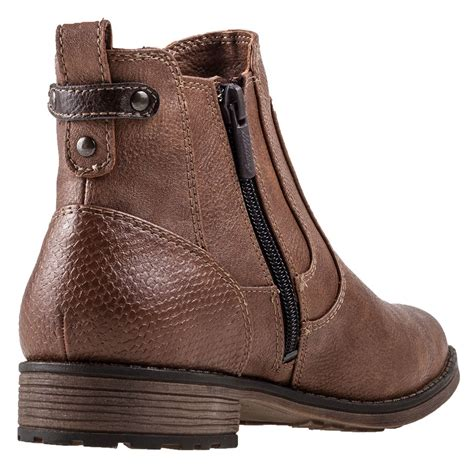 mustang ankle boot womens chelsea boots in chestnut