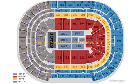 pepsi center denver co seating chart view