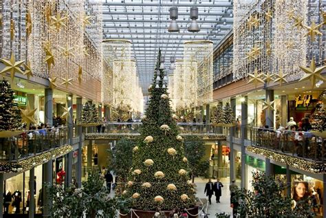 a large shopping mall center in berlin decorated for