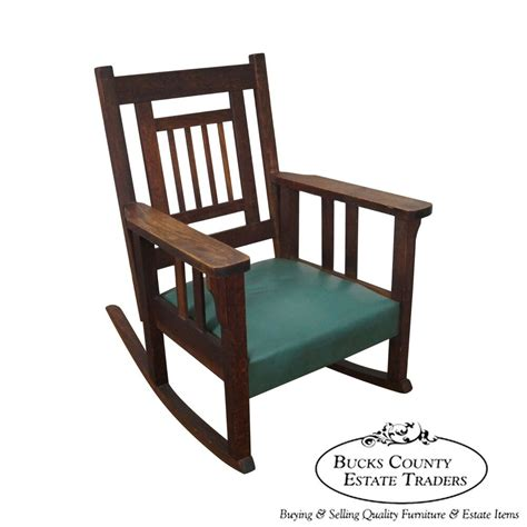 Style Rocking Chair - antique mission oak stickley style rocker rocking chair by