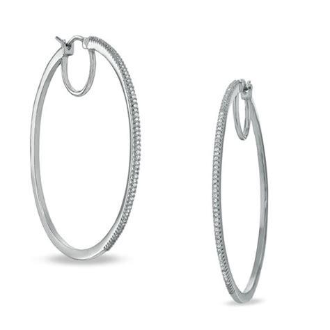 3 8 ct t w classic hoop earrings in sterling