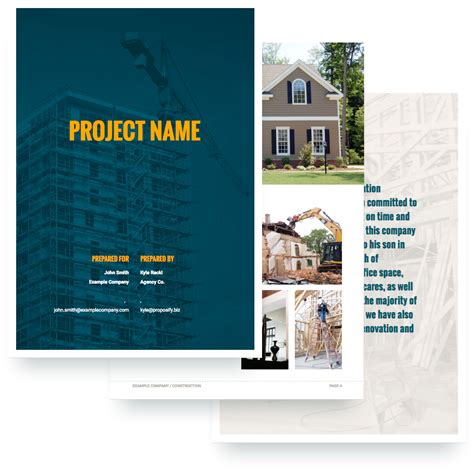 design and build contractors proposals construction proposal template free sle