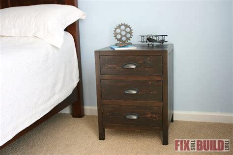 diy nightstand organizer diy 3 drawer nightstand fixthisbuildthat